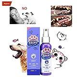 99AMZ Spray de Ambientador de Aliento para Mascotas - Limpiador de Dientes para Perros y Gatos Cuidado Pet Spray Dog Oral Care Bad Breath Teeth Cleaning Breath Freshener Plaque Remover (60ml)