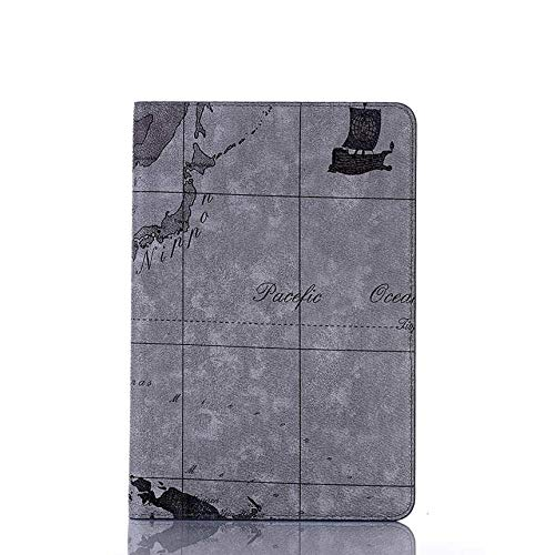QiuKui Tab Cover For iPad 2 3 4, New Print Map Case A1430 A1458 Card Slot Leather PU Stand Flip Cover For iPad 2 iPad 3 iPad 4 A1416 (Color : 3)