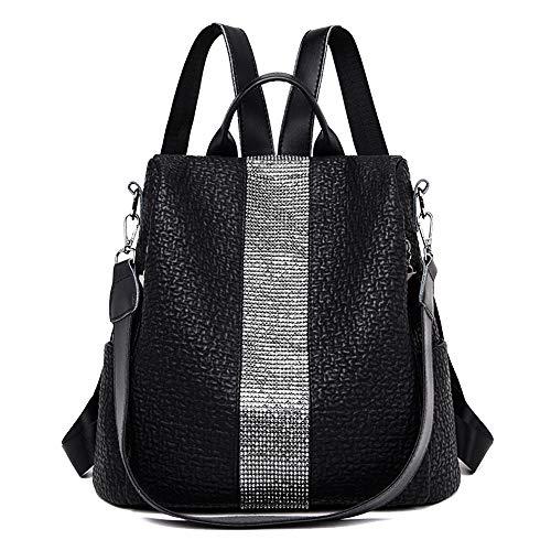 Coolives Damen Diebstahlsicherer Rucksack Tasche Handtasche Casual Daypacks Schultertasche für Teenager-Mädchen Dame Schwarz EINWEG