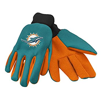 Forever Collectibles 74237 NFL Miami Dolphins Colored Palm Glove