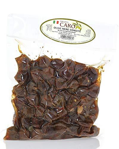 Olive Nere Siciliane Condite Piccanti (1Kg netti)