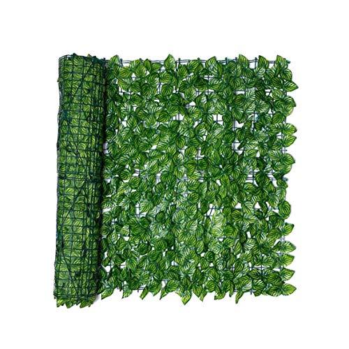 Blatt Zaun Panels Artificial Blatt Spalierhecke Privatsphäre Zaun Rolle Wand Watermelon Blatt Landschaftsbau Im Freien Garten-hinterhof Balkon 0.5x1m Haus- Und Zubehör