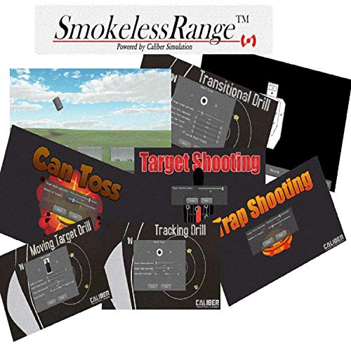 Laser Ammo Smokeless Range 2.0 Judgmental and Marksmanship Shooting Simulator for training with your own laser based training simulator in the comfort of your home