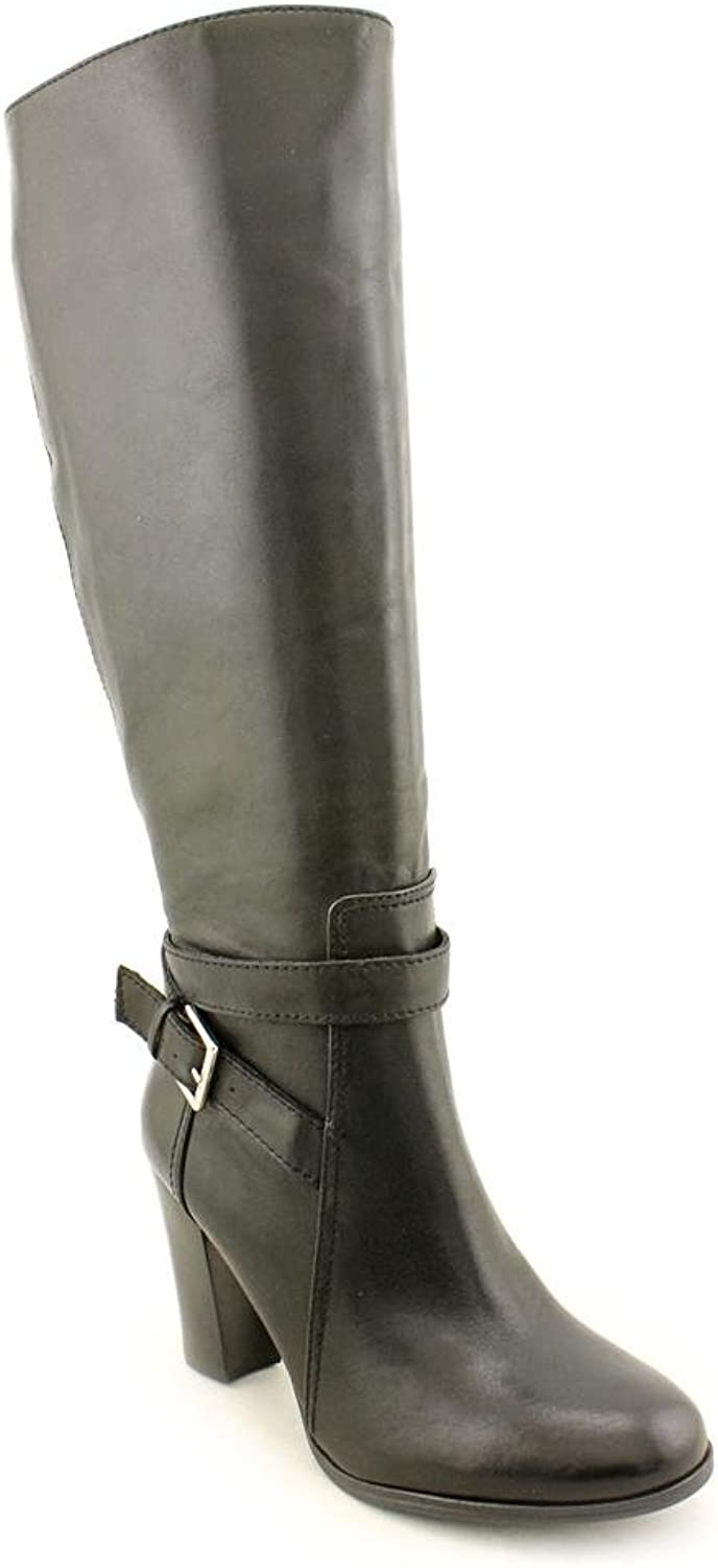 Marc Fisher Kessler Womens US Size 5.5 Black Leather Fashion Knee-High Boots