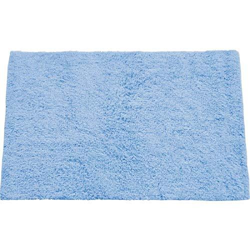 MSV Tapis de Bain 45 x 70 cm, Coton, Bleu Clair, 45 x 70 x 15 cm