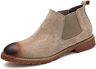 Men's Suede Chelsea Ankle Boots Causal Winter Shoes