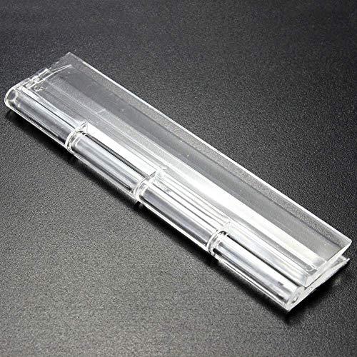 INGHU 10 stks acryl scharnier, plastic vouwen scharnieren voor doos Piano Showcase Meubels, Duurzame duidelijke plexiglas scharnier, Lijm Bonding Installatie 100x42mm As Picture Show