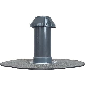 Flachdach-Sanitärlüfter mit Hart-PVC-Flansch