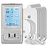 AccuMed Rechargeable Tens Unit Muscle Stimulator EMS Electronic Pulse Massager Stim Machine for Physical Therapy Back and Neck Pain Relief Portable Electric Tinge Electro-Therapy 8 Modes (AC-AP211)