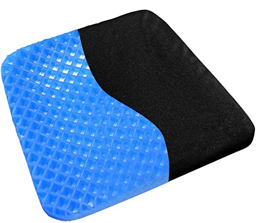 TBSDQLTEV Gel Seat Cushion, Seat Cushion Chair Pads with Non-Slip Cover for Home,Office,Car,Wheelchair, Breathable Sitter Cushion Design Help Relieve Pain