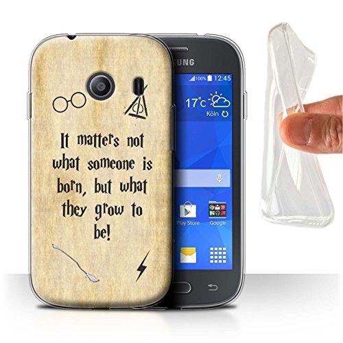 Hülle Für Samsung Galaxy Ace Style Schule der Magie Film Zitate Born und Grow Design Transparent Dünn Weich Silikon Gel/TPU Schutz Handyhülle Hülle