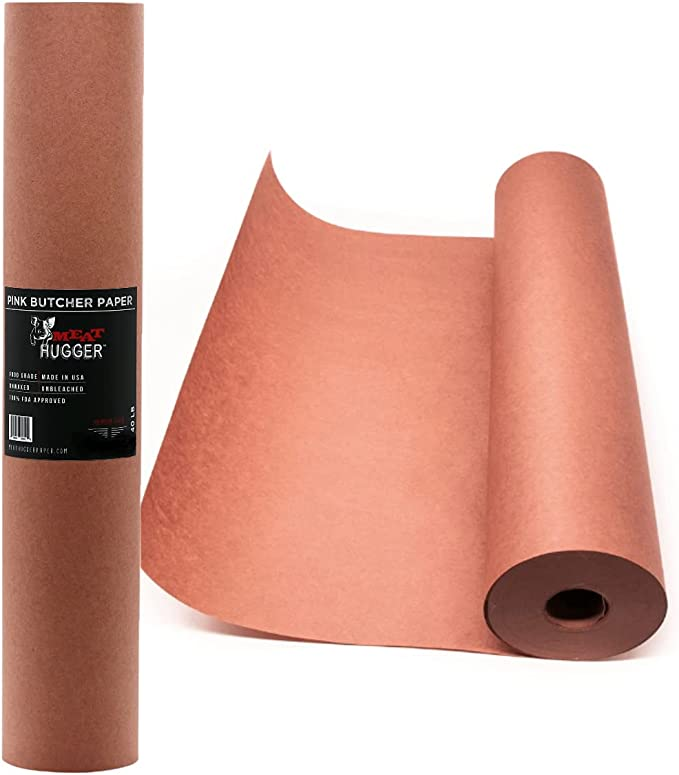 Meat Hugger Pink Butcher BBQ Paper Refill Roll - Best for Texas-style Smoking