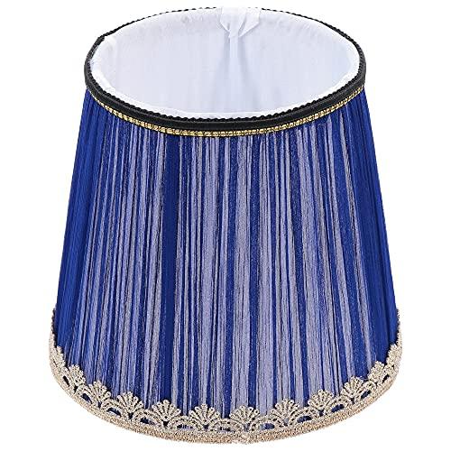 WNAVX Pantalla de Tela 1pc Lámpara de Techo para la casa Cubierta Protectora Lámpara Decorativa (Color : Dark Blue)