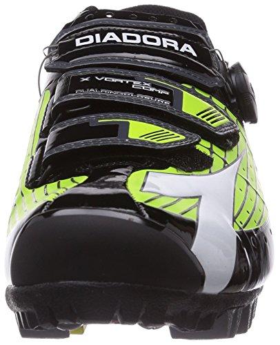 Diadora X VORTEX- COMP - Zapatillas de ciclismo de material sintético para mujer, Multicolore (Mehrfarbig (grün/schwarz 2174)), 40