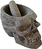 Molcajete Cuaomi - Molcajete Moderno de piedra volcánica en forma de cráneo calavera, el...