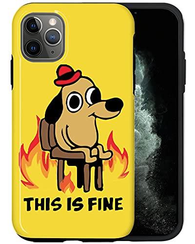 JUSPHY - Funda para teléfono compatible con iPhone 12 Pro Max, diseño de perro flameante RED267, diseño de moda, diseño de lujo, lindo patrón de accesorios para teléfono
