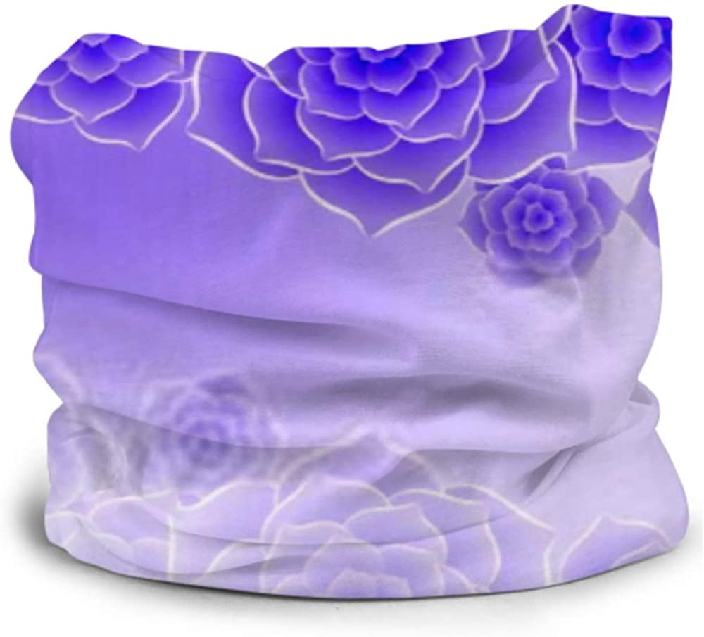 Headbands For Men Women Neck Gaiter, Face Mask, Headband, Scarf Beautiful Purple Rose Flower Background Eps10 Turban Multi Scarf Double Sided Print Hairbands For Women For Sport Outdoor