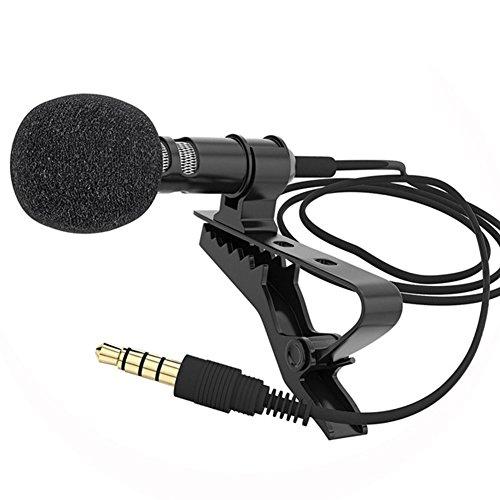 Morehappy7 Lavaliermikrofon, omnidirektionales Kondensator, Ansteckmikrofon, einadrig, geschirmtes Kabel, Smartphone