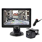 PARKVISION Wired Backup Camera Kit,AHD 720P reversing backup camera with 5''IPS Screen monitor visable from every angle,IP68 Waterproof Night Vision rear front view camera for Pickups,Trucks,RVs,Vans.