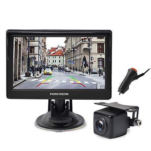 PARKVISION cámara de Marcha atrás Kit, cámara Marcha atrás AHD con Monitor IPS de 5 '', cámara de visión Trasera con visión Nocturna Impermeable IP68 con señal de transmisión Estable [RK-500AHD]