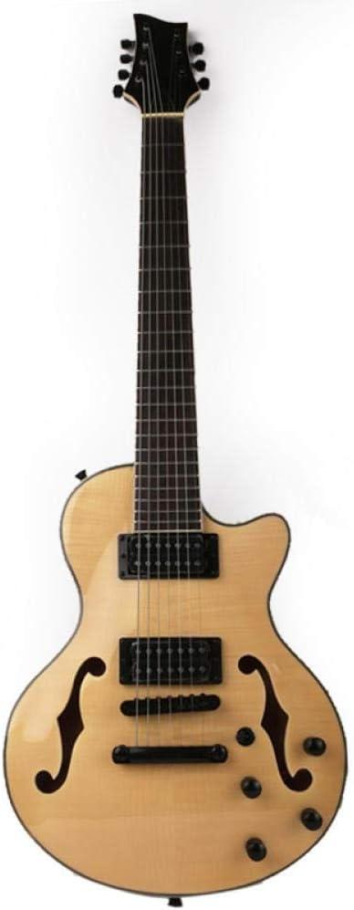 YYYSHOPP Guitarras y Engranajes 7 Cuerdas Siete Cuerdas Guitarra Eléctrica F Agujero Acústico Acero Cuerda Guitarras Guitarra Clásica Guitarras clásicas (Color : 1)