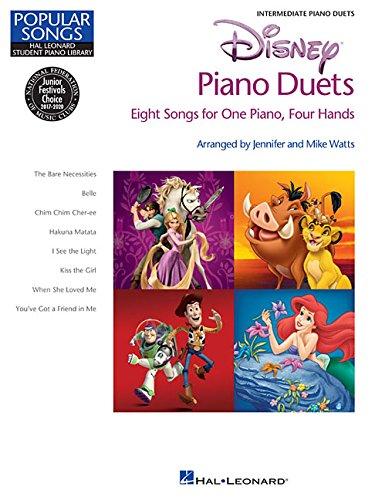 Disney Piano Duets: Songbook für Klavier 4-händig: Hal Leonard Student Piano Library Popular Songs Series Intermediate 1 Piano, 4 Hands