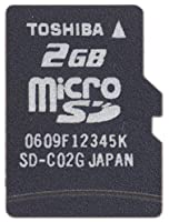 TOSHIBA microSDメモリカード 2GB SD-MD002GA