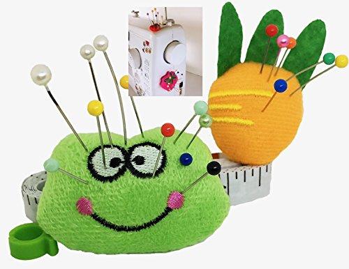 Cojín Pin para máquina de coser - Cojín Sticky Pin 2 piezas, organizador para agujas de bricolaje