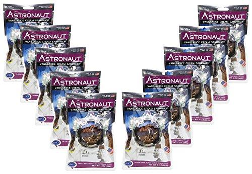 Astronaut Weltraum-Nahrung Eis Vanille -Sandwich 10 Packungen