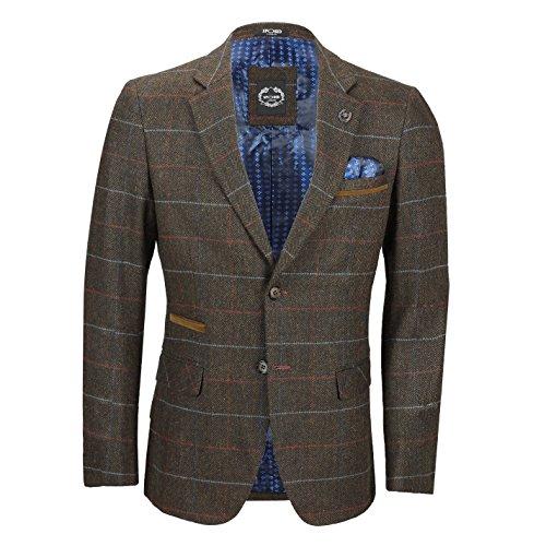 Xposed Herren-Anzug mit Fischgrätenmuster, 3-teilig Gr. 52, Blazer-earth Braun