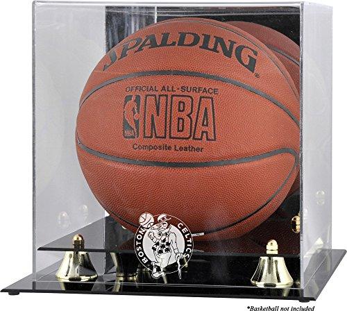 Boston Celtics Golden Classic Team Logo Basketball Display Case - Basketball Displays