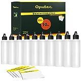 Botellas de plástico 10x 250ml Oputec con pipeta, para rellenar E-Liquids, cigarrillos electrónicos, vacías, de plástico, incluyen 10etiquetas