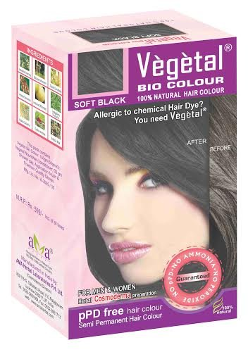 Vegetal Bio Colour - 150G, Soft Black