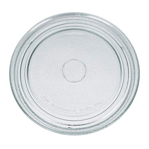 Drehteller für Mikrowelle 27,2 cm Mikrowellenteller 272 mm Glasteller Drehteller Ersatz Teller Glasplatte Glasdrehteller für Mikrowellen
