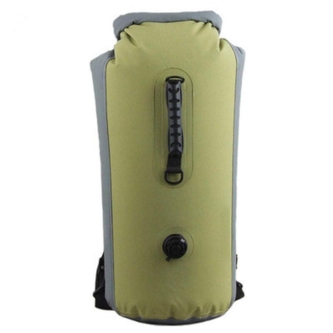 巨人派手焦がす2パック防水インフレータブルドライバッグ25L、簡単アクセスフロントジッパー付きポケット、カヤック、ラフティング、ボート、水泳、キャンプ用ヘビーデューティロールトップクロージャー,Green