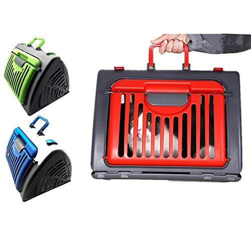 DZL® Trasportino triangolare in plastica per gatti e cani, lavabile per viaggiare, consigliato per animali domestici fino a 6 kg, 45 x 35 x 30 cm (casuale)