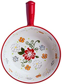 Ceramic Bakeware 2 Piece Microwave Oven Household Ethnic Style Baked Rice Baking Baking Pizza Rice Plate Baking Dish Lasag...