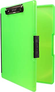 Dexas 3517-807 Slimcase 2 Storage Clipboard with Side Opening, Neon Green
