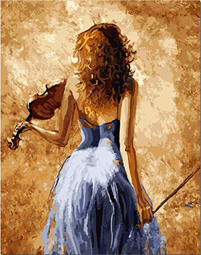 Diamond Painting Kits Woman Violin Diamond Painting Full Kits Adults Kids 5D Diamond Painting Kits Full Drill Diamond Art Cross Stitch Crystal Art Kits Home Wall Decor 30x40cm