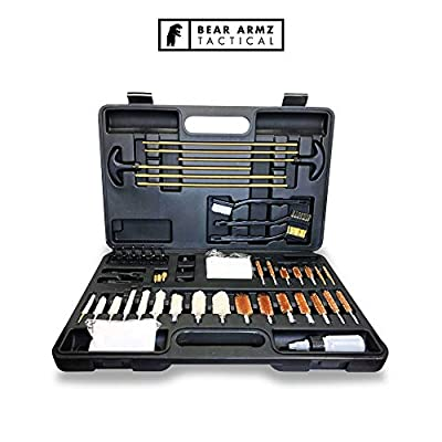 Bear Armz Tactical Universal Gun Cleaning Kit | American Company | Perfect for Shotguns, Rifles, Muzzle Loaders, Handguns and Pistols | Portable Case | Cleans Calibers .17- .50