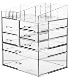 Cq acrylic 6 Tier Extra Large Clear Acrylic Makeup Organizer,Cosmetic Organizer and Jewelry Storage Display Case10.5'x7.9'x12.5'.Clear Pack of 1