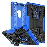 Rockwey Funda para Xiaomi Mi Mix 2,cáscara del teléfono,la Banda de Rodadura/Armor Tough,Manguito Protector bicapa Mixto Resistente a los Golpes,Anti-Deslizamiento,TPU+PC(Azul)