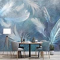 写真の壁紙3D立体空間カスタム大規模な壁紙の壁紙 ファッションフェザーの壁の装飾リビングルームの寝室の壁紙の壁の壁画の壁紙テレビのソファの背景家の装飾壁画-450X300cm