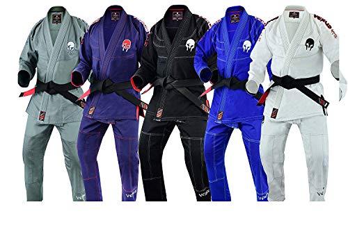 Verus Ultraleve Versão Pré-encolhida Tecido Spartacus BJJ Jiu Jitsu GI, Cinza, A4