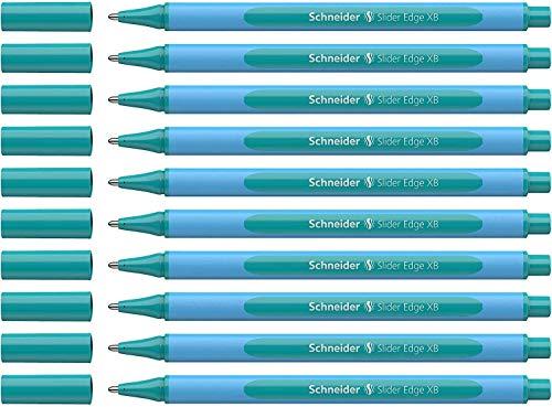 Schneider Pen, Slider Edge XB (Extra Broad) Pastel, Ballpoint Pen, Pack of 10, Ocean (152234)