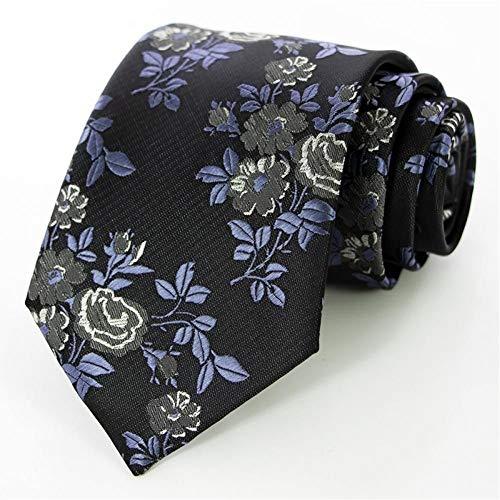 CNKN Klassische Seide Männer Krawatte Floral Rose 8cm Red Jacquard Krawatte Gravata Krawatten