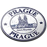 Alfombrilla Redonda para ratón – Praga República Checa Viaje Oficina Regalo – RM4796