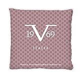 Versace 19v69 Almohada con Relleno, Algodón, Morado, 42x42x20 cm, 1 Unidad