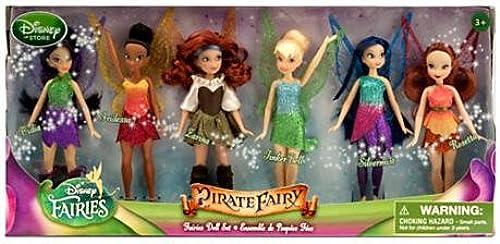 Disney The Pirate Fairy Exclusive 5 Inch Doll 6-Pack Faries Doll Set [Vidia, Iridessa, Larina, Tinker Bell, Silbermist & Rosatta] by Disney Store (English Manual)