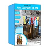 Essentially Yours Rolling Pool Noodle Storage Organizer Bin, Standard Noodle Holder, 24' W x 24' L x 38' H, Brown Mesh/Brown PVC